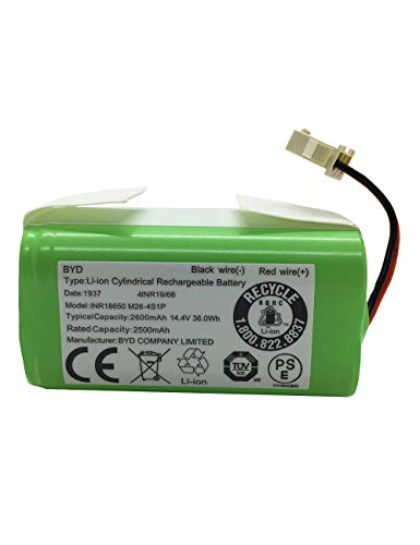 AnhoTech Replacement Battery Compatible with Ecovacs Deebot N79S, 500, N79 Robot Vacuum, 2600mAh, 14.4v