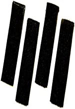 Del Molle Strips for Attaching Tactical ID Patches - for 6-inch high Patches - 4-Count - Black