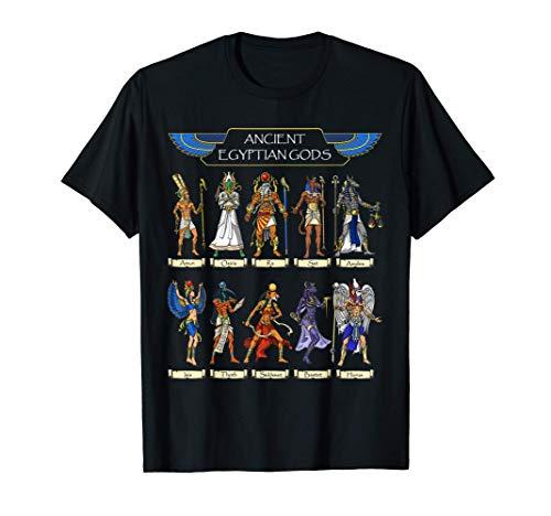 Egyptian Gods Ancient Mythology Pharaoh Anubis Thoth Horus T-Shirt
