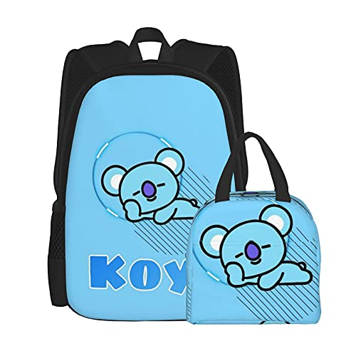 Koya Anime - Mochila y bolsa de almuerzo con caja desmontable (tamaño único)