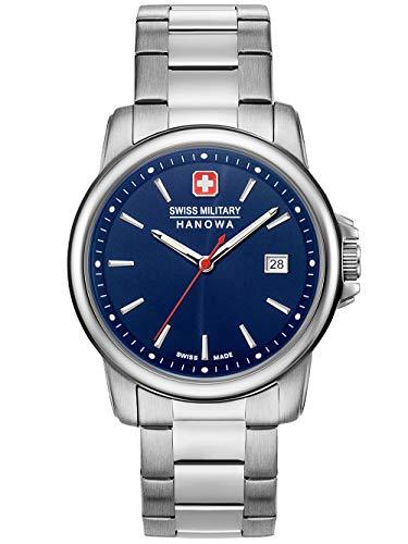 Swiss Military Hanowa Unisex Erwachsene Analog Quarz Uhr mit Edelstahl Armband 06-5230.7.04.003
