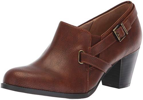 LifeStride Women's Jenson Ankle Boot, Brown, 6 W US