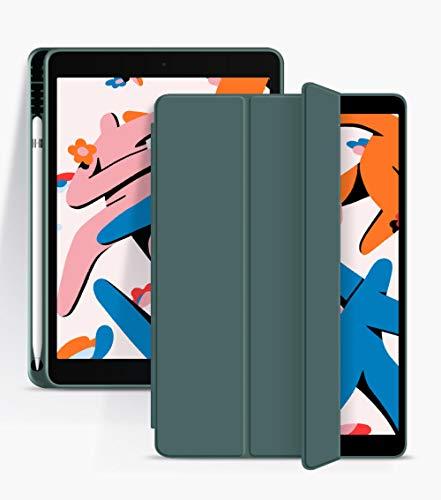 YYLKKB For iPad 10.2 Case For iPad 7th 8th Generation Cover For iPad 9.7 2018 6th 10.5 Air 3 10.9 Air 4 2020 Pro 11 Smart Cover Funda-Dark Green_iPad 2020 Air 4 10.9