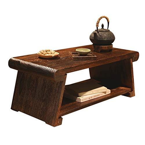 Tables basses Meubles Maison Solide en Bois Table Rectangulaire Baie Vitrée Chambre À Coucher Lit Bureau D'ordinateur Pliable Tables (Color : Wood, Size : 70 * 35 * 28cm)