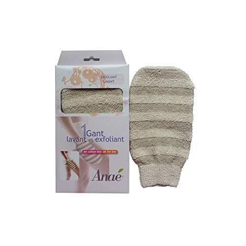 Gant exfoliant ou de massage en lin et coton bio