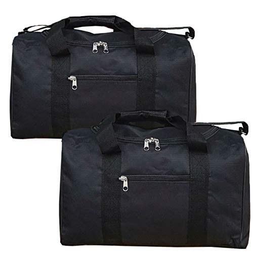 Ryanair Cabin Bags 40x20x25 Hand Luggage Maximum 2020 Size Holdall, Free Under Seat Flight Bag2 (x Black Holdalls)