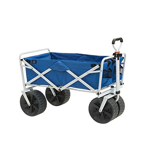 Mac Sports Heavy Duty Collapsible Folding All Terrain Utility Beach Wagon Cart,...