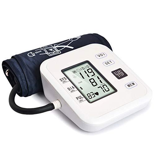 snmi Monitor de presión Arterial para Uso doméstico, máquina automática de presión Arterial Digital con Pantalla Grande, 2 usuarios, Detector de hipertensión de latidos cardíacos Irregulares