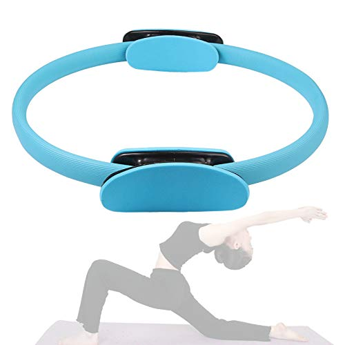 COLFULINE 15 Inch Pilates Ring Fitness Magic Circle Ring Workout Yoga Exercise Equipment Tools Double Handle Resistance Ring for Thigh Toner,Abs and Legs