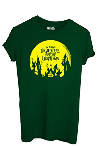 MUSH T-Shirt Nightmare Before Christmas-Dessin Anime by Dress Your Style - Homme-L Vert Bouteille