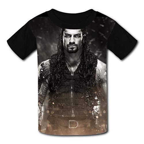 maichengxuan T-Shirt Kurzarm Kinder T-Shirt Roman-E-Reigns Mode T-Shirt für Mädchen Jungen