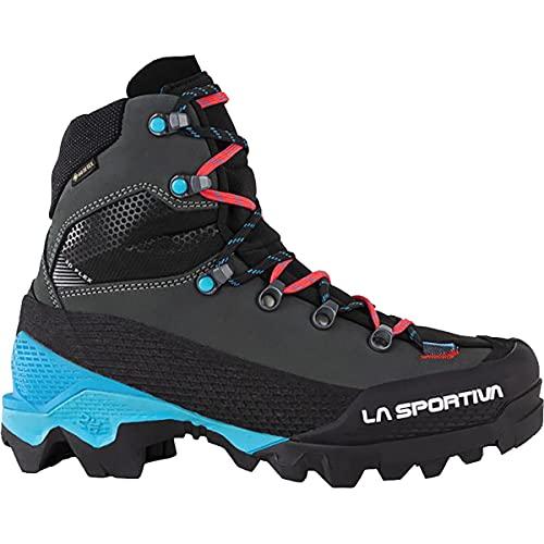 La Sportiva Aequilibrium LT GTX Mountaineering Boot - Women's Black/Hibiscus, 40.0