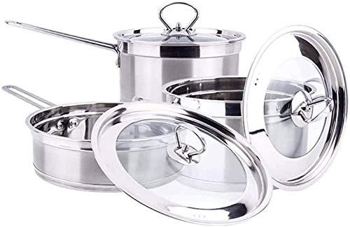 TYUIOYHZX Conjunto de Utensilios de Cocina de Cocina, Utensilios de Cocina de Cocina Conjuntos Woks & Stir-Fry Pan Pots y sartén