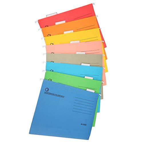 Carpeta de archivo colgante tamaño A4, 8 colores para la organización de archivos de oficina, 8 unidades