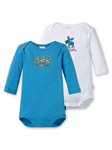 Schiesser Baby Body Bodies 1/1 Lot de 2 Bodies pour garçon -...