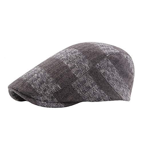 XinQuan Wang 2018 Sommer Baskenmütze Caps for Männer Frauen Vintage News Boy Cap Cabbie Gatsby Leinen Outdoor Hüte Marke Sonnenhut Unisex (Farbe : Kaffee, Größe : 56-58CM)