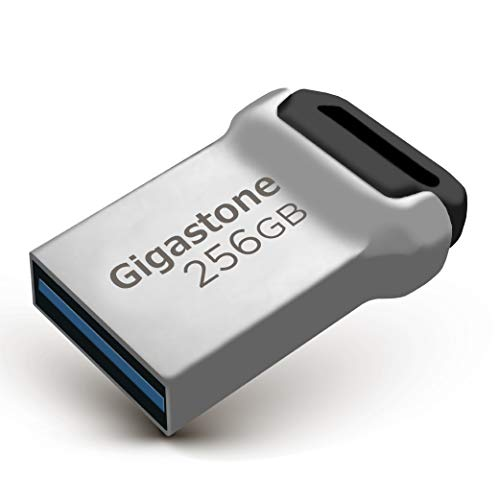 Gigastone Z90 256GB USB 3.1 Flash Drive, Mini Fit Metal Waterproof Compact Pen Drive, Reliable Performance Thumb Drive, USB 2.0 / USB 3.0 Interface Compatible