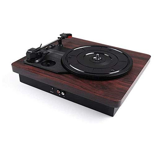 LMCLJJ Wireless-Streaming-Plattenspieler, Plattenspieler-Modi und Built In for Superior-Ton Bluetooth Record Player mit 3-Gang-Drehscheibe