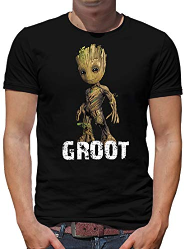 TShirt-People I am Groot Baby T-Shirt Herren L Schwarz