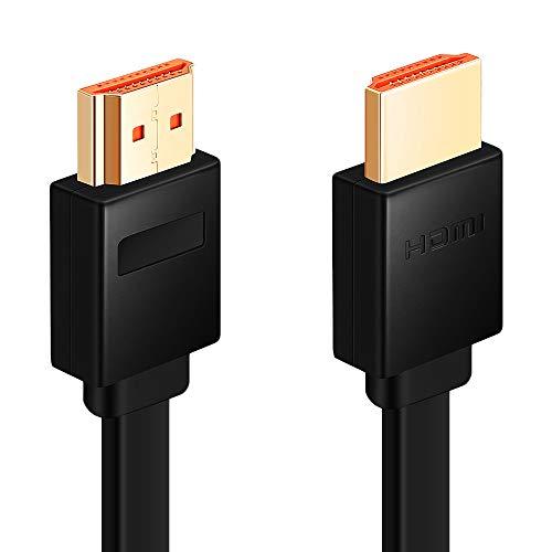 Chliankj Câble HDMI, Plat hdmi avec Ethernet, 3D,1080P et Audio Return, Haut débit Compatible 1m 2m 3m 5m 10m (2m)
