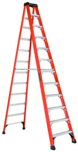 Louisville, FS1412HD, 12' Fiberglass 375 Lb. Stepladder, Type Iaa