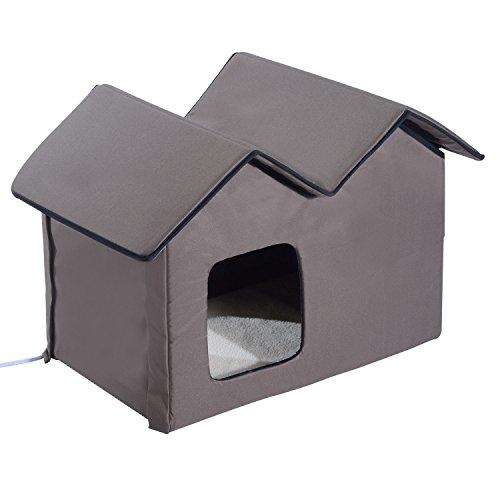 PawHut Double Heated House
