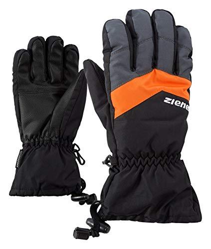 Ziener Kinder LETT AS glove junior Ski-Handschuhe / Wintersport | wasserdicht, atmungsaktiv, schwarz (black/Graphite), 6.5