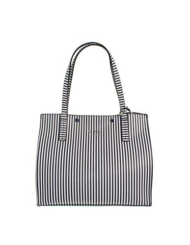 Guess Borsa Shopping Kinley Blue Stripe
