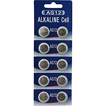 AG12 386 Button Cell Watch Batteries  10 Pack