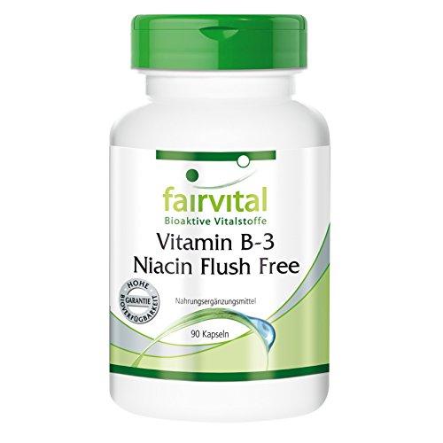 Vitamin B-3 Niacin Flush Free 400 mg 90 Kapseln, vegetarisch