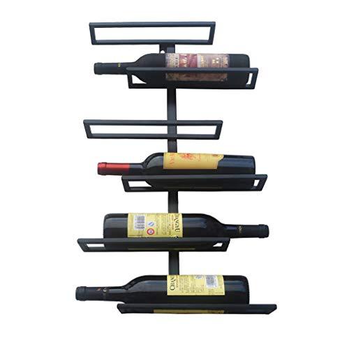 SHJICH Parete in Ferro Appeso alla Parete portabottiglie per Vino e Molte Bottiglie di portabottiglie per Vino Rosso Formato: 35 * 10 * 65cm