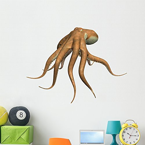 Wallmonkeys Octopus Wall Decal Peel and Stick Graphic (48 in W x 36 in H) WM203481