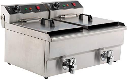 Friteuse professionnelle électrique - 2 x 8 L - 2x 3,3 kW - Combisteel -