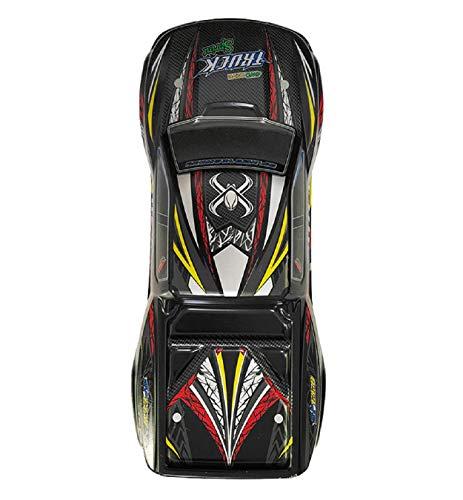Loneflash RC Car Body Shell, XLH 9125 1/10 Off Road Nitro RC 1/10 Truck Body Shell Cover, 12.01 x 3.39 x 5.51inch (Red + Black, Blue + Black)