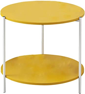 Small Coffee Tables Side Small Coffee Table Simple Nordic Round Table Coffee Table Tables (Color : Fashion Yellow)