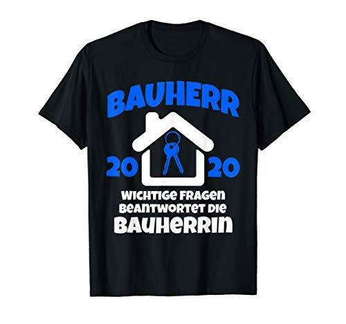 Herren Bauherr 2020 Geschenk I Lustiges Bauherren Baustellen T-Shirt