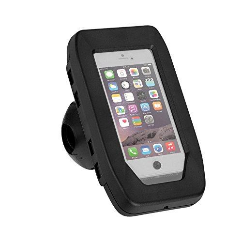 iGRIP Splashbox Universal Fahrrad & Motorrad Halterung für Apple, Sony, Samsung uvm. für Lenkstangen zwischen 22,2mm & 31.8mm Durchmesser [Made in Germany I 360° Drehbar I Patentierte Technologie]
