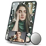 Lighted Makeup Mirror with 10x Magnification and...