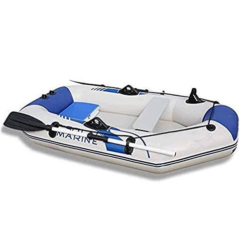 JNWEIYU Engrosada Kayak Inflable, Engrosada y ensanchada anticolisión de Gaza, 2/3 de la motora Persona Bote del Barco de Pesca Barco con Fondo Duro (Color: Blanco, Tamaño: 2m)