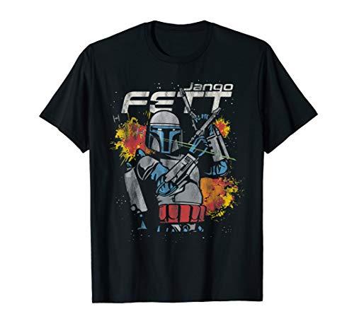 Star Wars Jango Fett Hero Blasters Mandalorian Prequel T-Shirt