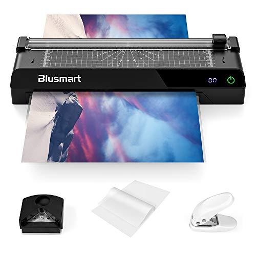 Blusmart A3 6 in 1 Plastificadoras, Laminadora con pantalla táctil, Monitor de Temperatura, Recortadora de papel, 40 bolsas de laminación, redondeador de esquinas, adecuado para A3, A4, A5, A6