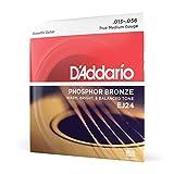D'Addario Stahlsaiten für Westerngitarre | INNOVATION MADE IN USA | EJ24 | Phosphor Bronze | True Medium (13-56) | DADGAD-Tuning-Satz