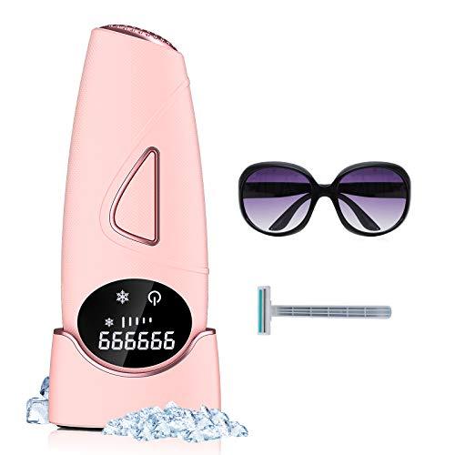 IPL Geräte Haarentfernung, Domserv Laser Haarentfernungsgerät mit 999,999 Blitz und LCD-Anzeige, Dauerhaft Schmerzfreie Haarentfernung