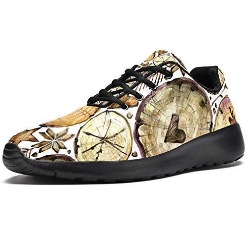 imobaby Sport-Laufschuhe für Damen, Holz, Elch, modische Sneaker, Netzstoff, atmungsaktiv, Wandern, Tennisschuhe, Mehrfarbig - mehrfarbig - Größe: 40.5 EU
