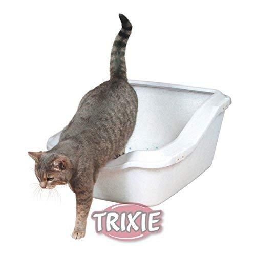 Trixie 40371 Katzentoilette Cleany Cat, mit Rand, 45 × 29 × 54 cm, weiß