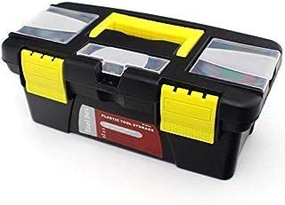 KRIZER Tool Box- Plastic Double Layer Tool Box-Keep Your Organized Tools Screwdriver-Mini Hardware Tool Kit Box-Wrench & S...