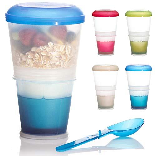 Tazza per cereali To-Go Cereal Mug per On-the-go 2-Go Cereal...