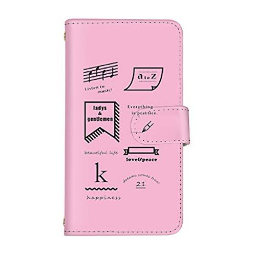 スマ通 Android One S3 国内生産 ミラー スマホケース 手帳型 SHARP シャープ アンドロイド ワン エススリー 【2-ピンク】 英国風 q0004-e0270