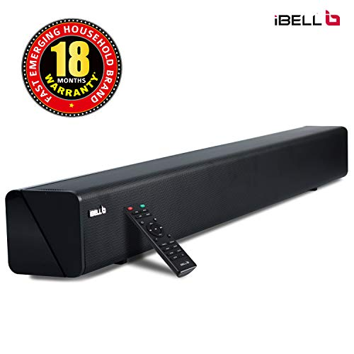 iBELL 265SB 2.0 Soundbar 60-Watts with HDMI & Bluetooth Multimedia Speaker|USB|AUX|Optical| Connectivity(Black)