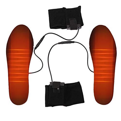 TENGXI Plantilla calefactable con USB, suela térmica, con aislamiento frío, plantilla recargable y calefactable, se puede cortar para hombre y mujer, invierno, caza, pesca, senderismo y campo